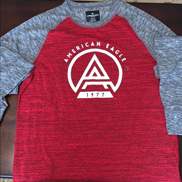 f453aa8d American Eagle Outfitters Shirts | American Eagle Baseball Tee Long ...